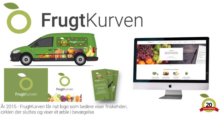 FrugtKurven - Frisk ny hjemmeside og logo