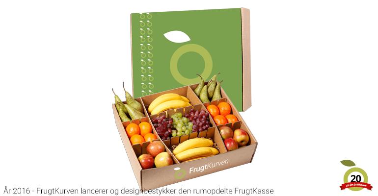 FrugtKurven - Grøn rumopdelt frugtkasse