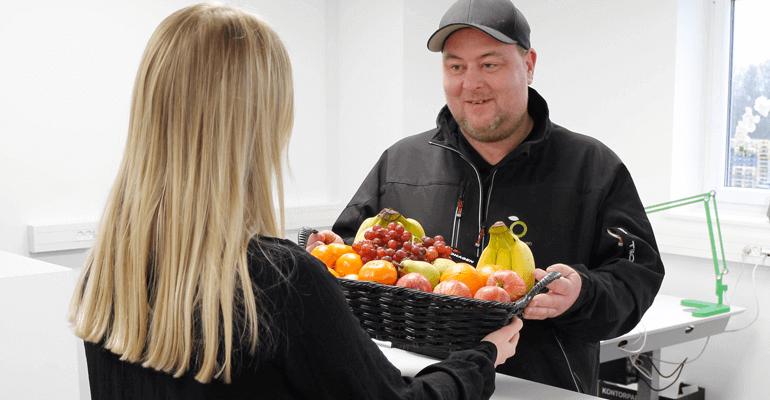 Frugtordning, firmafrugt, frugt til virksomheder, firmafrugtordning, frugt til hjemmekontoret, gavekort, frugt på arbejdspladsen, firma frugt, frugt til firmaer,
