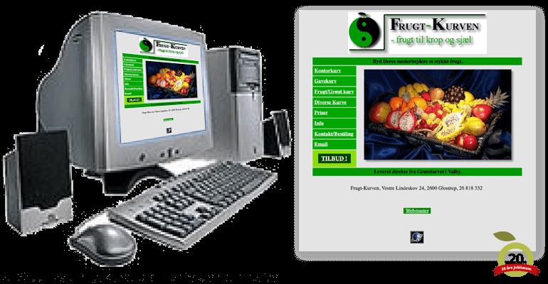 FrugtKurven - Første hjemmeside