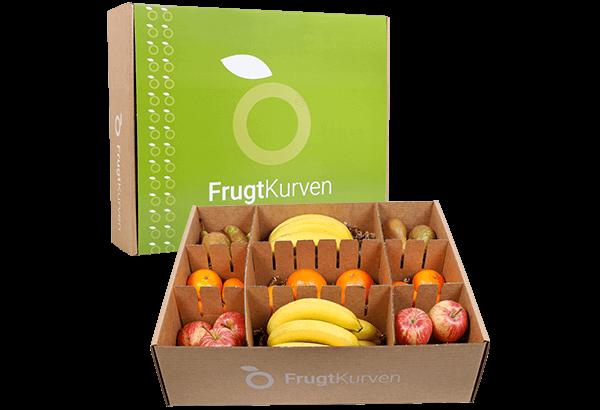 Frugtkasse, Frugtkasser, Frugtkasse 40 stk, frugt, kassen, firmafrugt, frugtordning, frugtlevering