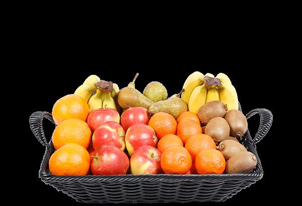 økologisk frugtkurv, økologisk firmafrugt, økologisk frugtordning, økologisk frugt, 40 stk.
