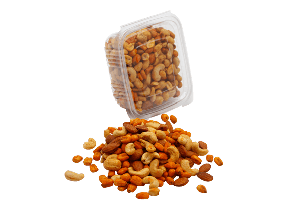 nødder, øko nødder, nødder, nøddepose, nøddemix, happy, happymix, krydret nødder