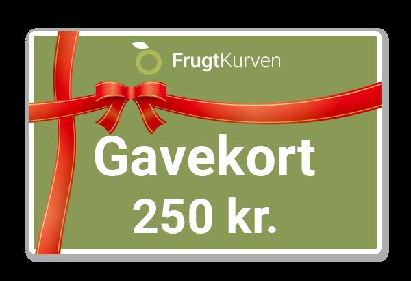 Gavekort, gavekort til FrugtKurven, gavekort grønt, gavekort grøntsagskasser, gavekort FrugtKasser, sunde gaver, sund gave, FrugtKurv gave
