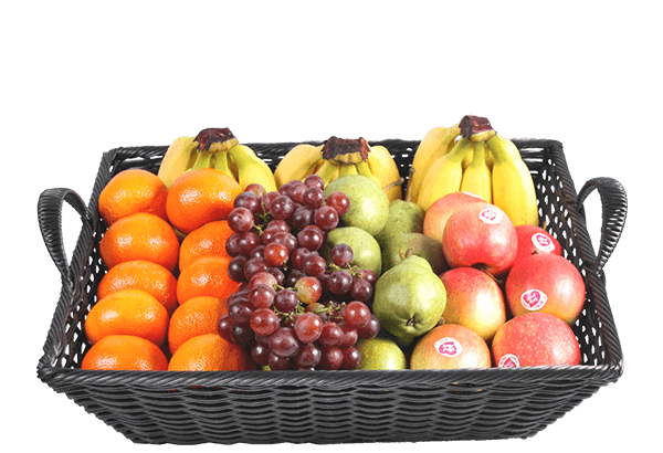 firmafrugt, frugtordning, frugtlevering, frugtkurv, stor, luksus frugt