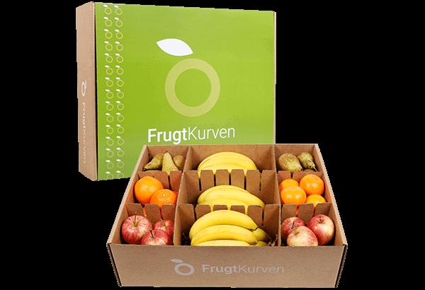 Frugtkasse, Frugtkasser, Frugtkasse 55 stk, frugt, kassen, firmafrugt, frugtordning, frugtlevering