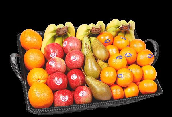 basisfrugt 55, basis frugt 55 stk, frugtkurv, firmafrugt, frugtordning, frugtlevering