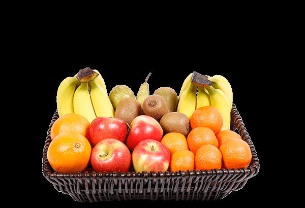 økologisk frugtkurv, økologisk firmafrugt, økologisk frugtordning, økologisk frugt, 25 stk.
