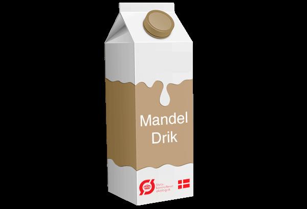 mandeldrik, mandelmælk, øko mandeldrik, øko mandel mælk, Økologisk mandeldrik, Økologisk mandelmælk