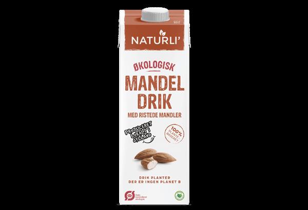 øko mandeldrik, Økologisk mandelmælk, øko mandelmælk, Økologisk mandelmælk