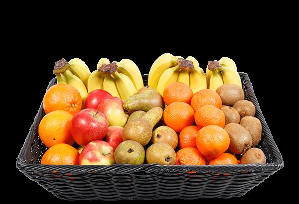 økologisk frugtkurv, økologisk firmafrugt, økologisk frugtordning, økologisk frugt, 55 stk.