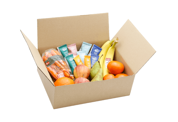 økologisk FrugtKasse, økologisk snackskasse, snackbox øko, sunde økologiske snacks, økologiske FrugtKasser, medarbejder Økologisk frugt, økologisk frugt til hjemmekontoret