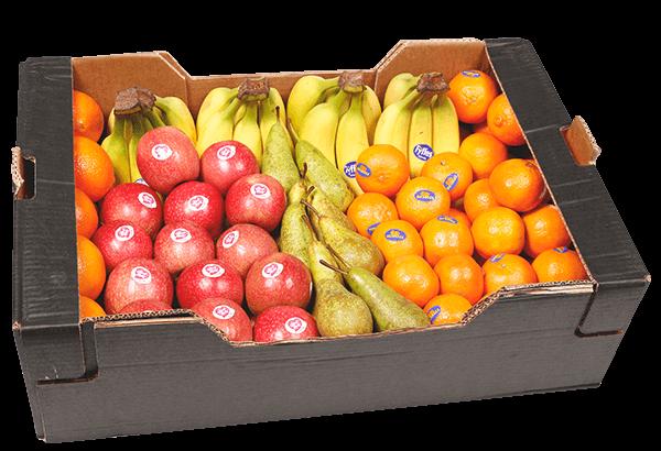 Frugtkasse, Frugtkasser, Frugtkasse 75 stk, frugt, kassen, firmafrugt, frugtordning, frugtlevering, firmafrugtordning