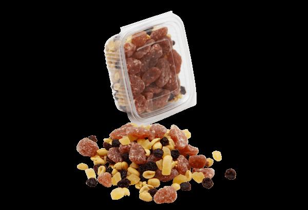 Nødder, Nøddemix, nøddeblanding, billige nødder, studenter mix, funky mix, tørret jordbær, tørret ananas, jumborosiner, peanuts