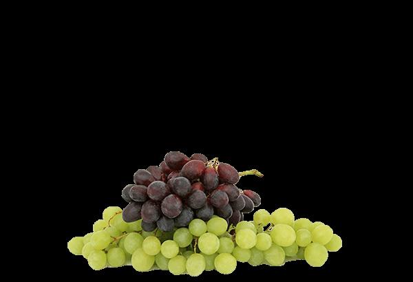 Vindruer, stenfrie vindruer, grønne druer, røde druer, frugtsnack, topping, frugtkurven